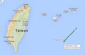 Passing Taiwan